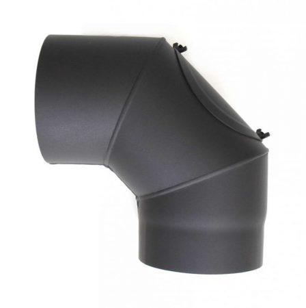 DN120, vastagfalú fekete tisztítós acél könyök 90 fokos