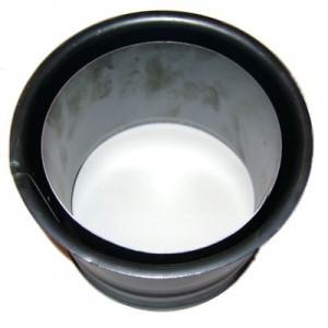 DN120 fekete duplafalú acél falhüvely