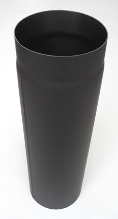 DN150, 500mm hosszú acél, vastagfalú fekete füstcső