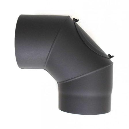 DN160, vastagfalú fekete tisztítós acél könyök 90 fokos