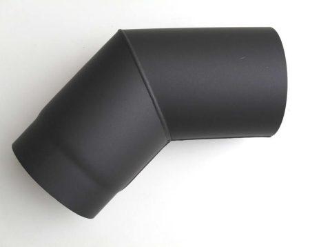 DN180, vastagfalú fekete acél 45 fokos könyök