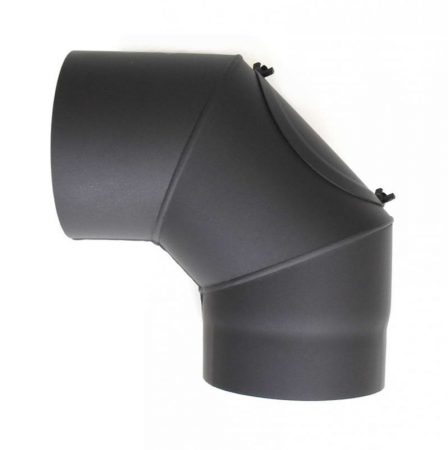 DN180, vastagfalú fekete tisztítós acél könyök 90 fokos