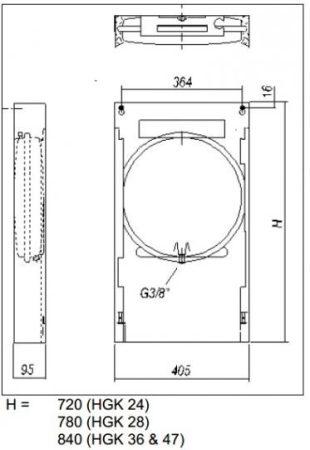 Szerelőkeret HGK-28 gázkazánhoz 2379960022 (HAJ00076)