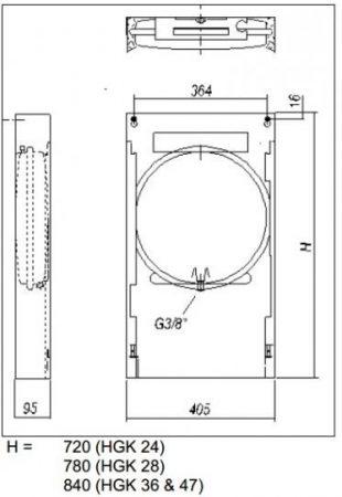 Szerelőkeret HGK-36 gázkazánhoz 2379960023 (HAJ00077)