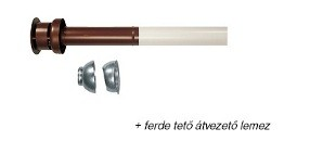 Immergas Ø 60/100 mm-es koaxiális függőleges készlet (cserépvörös)