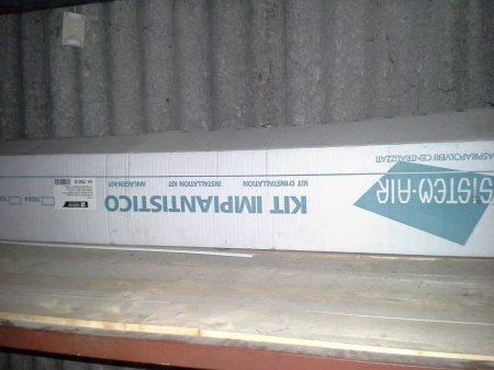 Központi porszívó Sistem-AirSistem-Air alapszerelés készlet 50mm, 3 mm szerelőlappal