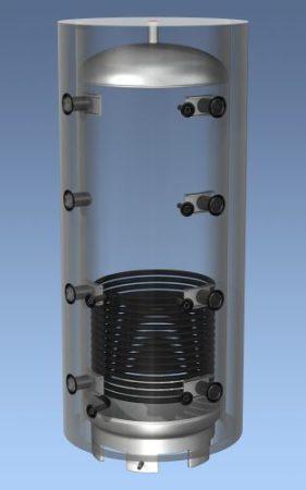HAJDU Aquastic 1000C puffertartály 1 hőcserélő, szigeteléssel