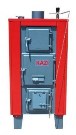 Kazi VR-48 kW + szigetelés + automata huzatszabályozó (vízrostélyos)