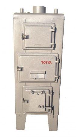 Totya  S- 28 Szigetelés nélkül,  huzatszabályozóval +Ajándék Totya salak kaparó