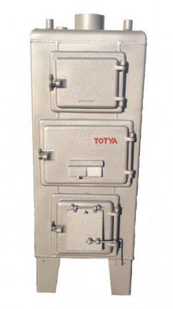 Totya  S-38 Szigetelés nélkül,  huzatszabályozóval  +Ajándék Totya salak kaparó