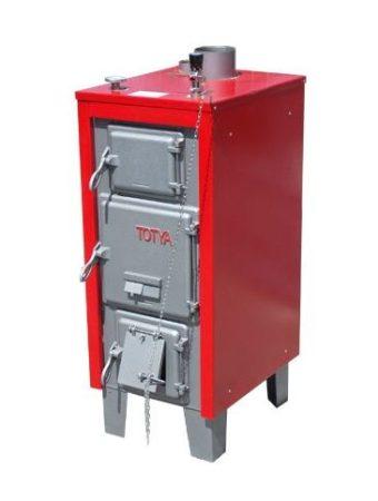 Totya S-28 kW  + szigetelés +  automata huzatszabályozó+hőmérő+Ajándék Totya salak kaparó