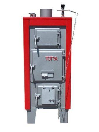 Totya  S-33 kW + szigetelés + hőmérő+ automata huzatszabályozó + Ajándék Totya salak kaparó