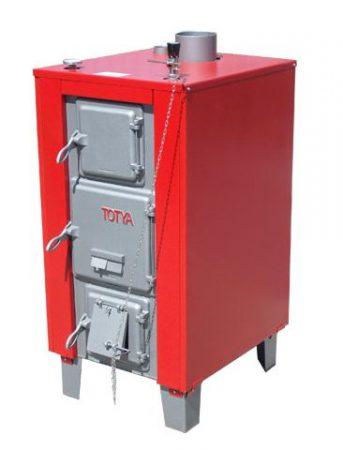 Totya S -38 kW + szigetelés +hőmérő+ automata huzatszabályozó +Ajándék Totya salak kaparó