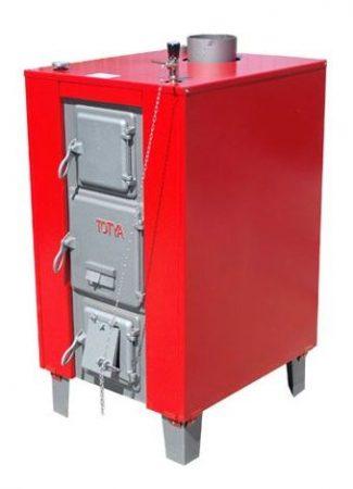 Totya S -43 kW + szigetelés + hőmérő+ automata huzatszabályozó  +Ajándék Totya salak kaparó