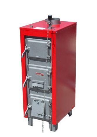 Totya S-18 kW  + szigetelés +  automata huzatszabályozó