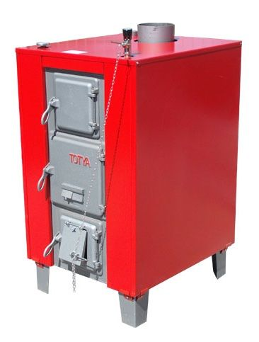 Totya  S-48 kW + szigetelés + automata huzatszabályozó