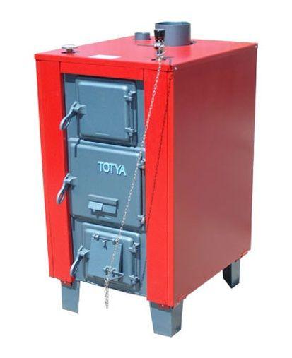 Totya  VR -48 kW + szigetelés + automata huzatszabályozó (vízrostélyos)